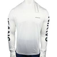 NWT CALVIN KLEIN AUTHENTIC MEN'S WHITE CREW NECK LONG SLEEVE T-SHIRT