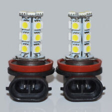 2x White 6000K 1.2W H11 18-SMD 5050 LED Headlight Bulbs Driving Fog Light 12v