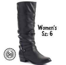 NIB Womens SO Black Boots Sz 6