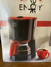 Melitta Enjoy Filter-Kaffeemaschine, schwarz-rot