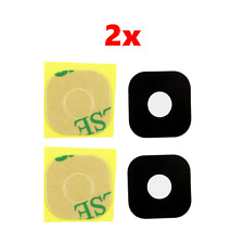 2x Black Rear Back Camera Lens Glass Cover with Adhesive for HTC One M9