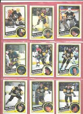 1984/85, lot of 9 Pittsburgh Penguins OPC cards,  34 yrs old