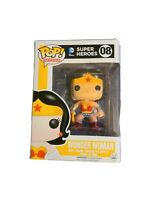 Authentic Wonder Woman (DC Super Heroes) Funko Pop #8 Minor Damaged Condition.