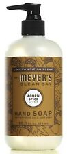Mrs. Meyer's Clean Day Acorn Spice Liquid Hand Soap 12.5 Limited Edition Scent!!
