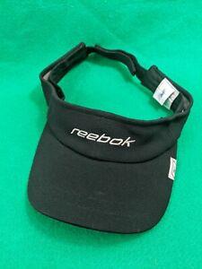 Reebok Branded Script Logo Black Breathable Adjustable Strap back Cap Hat Visor