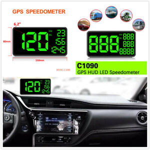 "1Pcs 6.2"" GPS Speedometer HUD Head Up Display Overspeed Warning Device For Car"