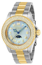 Invicta Women's Watch Sea Base Crystal White MOP Dial Two Tone Bracelet 23831