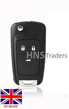 3 Bouton Remote FLIP KEY CASE lame Pour Vauxhall Opel Zafira Astra Insignia A20