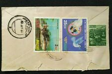 BHUTAN TO PAKISTAN POSTALY USED REGISTERED COVER L@@K!!