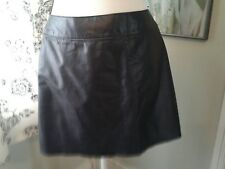 EXPRESS LEATHER SKIRT BLACK A LINE Size 3/4