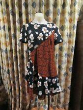 NEW womens VERONIKA MAINE floral print fit flare dress SZ 14
