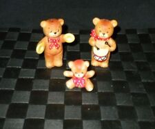 Lot/3 1980 Enesco Lucy and Me Porcelain Bears-Baby-Drummer-Cymbal s Figurines