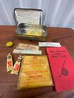 Vintage Bauer & Black Junior Legion First Aid Kit Tin W/Book Medical Advertising