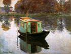 The Studio Boat by Claude Monet, Giclee Canvas Print, various sizes