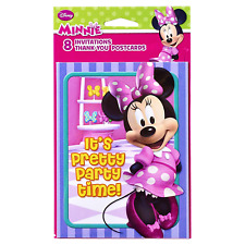 AMERICAN GREETINGS* 8 Cards DISNEY MINNIE MOUSE Invitation+Envelope+Thank You