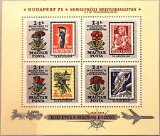 HUNGARY UNGARN 1971 Block 83 A B293 Space Stamp Day Stamp on Stamp Airplane MNH