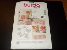 Burda Style Pattern 7542 ~ (6) Styles of Throw Pillows w/Applique Designs-Hearts
