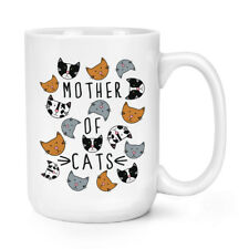 Mother Of Cats 15oz Large Mug Cup - Funny Crazy Cat Lady Big