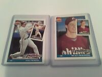 PHILLIES Dale Murphy + Mickey Morandini 1991 Topps + Identical Micro Mini