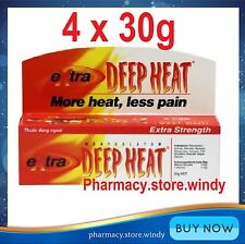 4 x Rohto Mentholatum EXTRA STRENGTH DEEP HEAT GEL Cream Pain Relief Rub 30 gr
