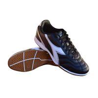 Diadora Men's Capitano ID Indoor Soccer Shoes (Black/White)