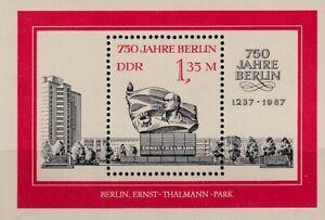 DDR Nr. Block 89 (3123)** 750 Jahre Berlin / Ernst-Thälmann-Park