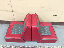 * Back to Back Folding Lounge Reclining Boat Seats Excellent Condition RED