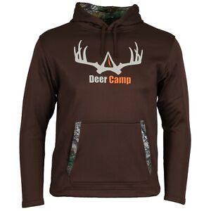 Deer Camp Hunting Camp Camo Hoodie