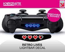 KNR2309 RETRO LIVES HEARTS | Dualshock 4 PS4 Lightbar Light Bar Decal DS4