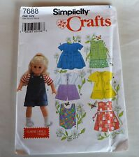 Uncut Simplicity Crafts 7688 Pattern 18� Doll Summer Clothes Elaine Heigl Design