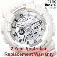 CASIO BABY-G LADIES WATCH BA110-7A3 BASIC WHITE BA-110-7A3DR 2-YEARS WARRNATY