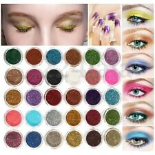 30X Farbe Mix Glitter Puder Lidschatten Eyeshadow Kosmetik Schminke Makeup Set