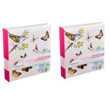 Arpan x 2 Butterfly Photo Album 6x4'' Totaling 1000 Photos - BB500