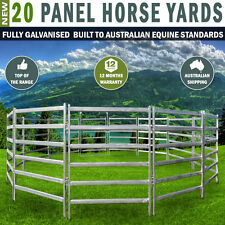 20 Panel Horse Yards Inc Gate, Round Yard, Cattle Fences, Corral 14m Diameter