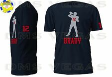 New England Patriots Tom Brady Jersey Tee Shirt Men Size S-XL Shadow