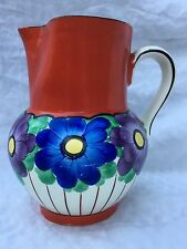DITMAR URBACH Pitcher Hand painted Czechoslovakia