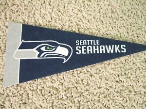 "NEW Seattle Seahawks NFL Football Pennant Mini 9"" Souvenir Felt Flag Wilson"