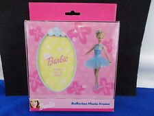 "Barbie picture frame Ballerina photo holds 3.5"" x 5"" Mattel 2001"