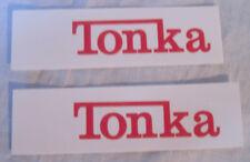 Tonka Red script water slide decal set