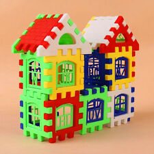 24pcs DIY House Bricks Plastic Building Block Kids Educational Puzzle Toy Set