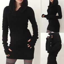 UK Women Hoody Sweatshirt Hoodies Dress Long Sleeve Pullover Jumpers Sweater Top