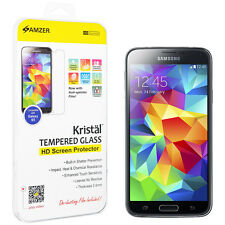 Amzer Kristal Tempered Glass HD Screen Protector Beveled 3D For GALAXY S5 SMG900