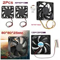 4 Kinds Size Quiet 12V Computer/PC/CPU Silent Cooler Cooling Case Fans UK
