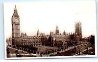 *1930s Houses of Parliament London UK RPPC Vintage Real Photo Postcard C71