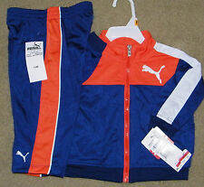 New! Boys Puma Track Outfit (Orange/Blue; Jacket; Pants; Macys) - Size 18 mo