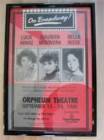 1988 Orpheum Memphis Concert Poster Lucie Arnaz,Della Reese,McGovern Lucille
