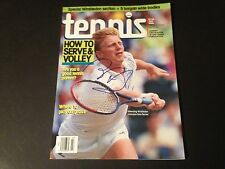 Boris Becker Germany 1990 Tennis Magazine Mag Signed Auto COA