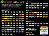 HUMBROL (14ml TIN) MATT & SATIN ENAMELS #1-105 (PART I)