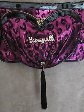 BETSEY JOHNSON Betseyville Tassel My Heart Pink Lace Crossbody Handbag Purse NWT