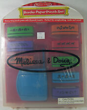 MELISSA & DOUG BORDER PAPER PUNCH SET HEAVY DUTY PRESS & 8 PUNCH INSERTS #4013
